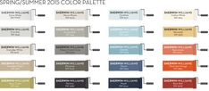 Pottery Barn and Sherwin Williams 2015 Spring/Summer Paint Colors.  Love Jetstream and Ebbtide.