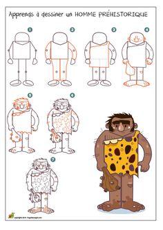Dessiner un homme préhistorique Plus