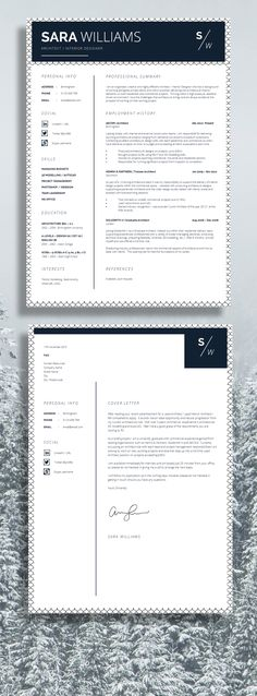 Resume Template | Cv Template + Cover Letter + Resume Advice For