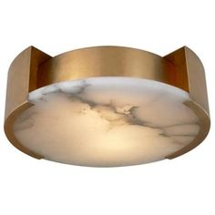 Shop for Visual Comfort KW Kelly Wearstler Modern Melange Small Flush Mount Lamp in Antique-Burnished Brass with Alabaster at Foundry Lighting Interior Lighting, Modern Lighting, Lighting Design, Lighting Ideas, Visual Comfort Lighting, Alabaster Stone, Circa Lighting, I Love Lamp, Kelly Wearstler