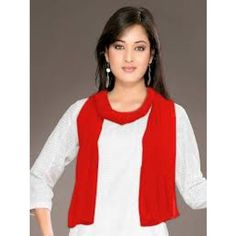 plain dupatta red colour