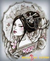 hình xăm geisha 46
