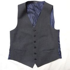 John Varvatos Star USA Men's 'Pitt' Trim Fit New Dark Blue Vest Large NWT $125…
