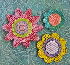 Clay Texture Flowers
