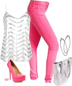 """""""neon sparkle"""" by fluffof5 on Polyvore"""