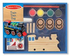 Melissa & Doug Decorate-Your-Own Wooden Train Craft Kit, Wood