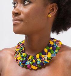 Africain impression bijoux collier collier de déclaration