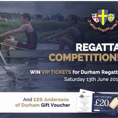 Happy Monday Guys! Here's our Durham 'Regatta' competition..get entering!! http://www.andersonsofdurham.com/regatta-competition/