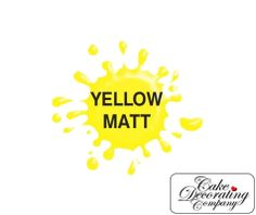 This bright Yellow Matt Airbrush Paint By Dinkydoodle Designs is perfect for airbrushing onto cakes, chocolate or sugar paste.