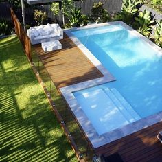 Having a pool sounds awesome especially if you are working with the best backyard pool landscaping ideas there is. How you design a proper backyard with a pool matters. Small Backyard Pools, Backyard Pool Landscaping, Backyard Pool Designs, Small Pools, Swimming Pools Backyard, Swimming Pool Designs, Backyard Fences, Landscaping Ideas, Backyard Ideas