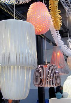 I have pinned allot of his lamps. - paper lamps by Paula Arntzen color