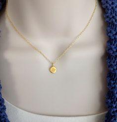 Gold evil eye charm necklace gold Talisman by WendyShrayDesigns
