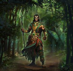 Male Elf Druid - Pathfinder PFRPG DND D&D d20 fantasy