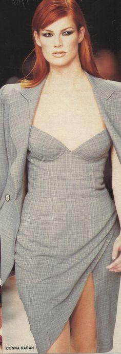 302011afa31 Meghan Douglas for Donna Karan 90s Runway Fashion