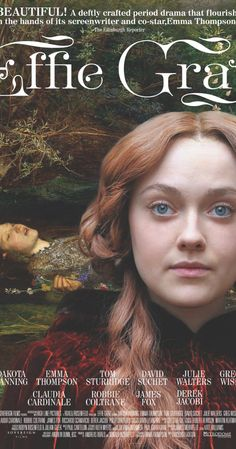 Directed by Richard Laxton. With Dakota Fanning, Emma Thompson, Claudia Cardinale, Robbie Coltrane. A look at the mysterious relationship between Victorian art critic John Ruskin and his teenage bride Effie Gray. Dakota Fanning, Netflix Movies, Hd Movies, Movies Online, Emma Thompson, Effie Gray Movie, Effie Grey, Love Movie, Movie Tv