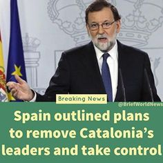 In emergency cabinet meeting, Mariano Rajoy, the Spanish Priminister stopped short of dissolving catalonia's parliament but put forward plans for elections.  The resolutions are now to be approved by Spain's Senate in the next few days. #briefworldnews .  .  .  .  .  .  #spain #catalonia #madrid #barcelona #independance #freedom #parliment #news #trending #briefnews #today