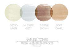Nature Tones Brushstrokes