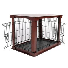 Mahogany Pet Crate End Table, Large #PetCrates