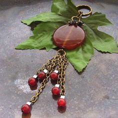 Gemstone bag or purse charm