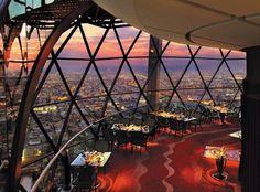The Globe Restaurant at Al Faisaliah Hotel, A Rosewood Hotel overlooking Riyadh