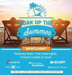 Summer sun is out! So take advantage and line up some vacation travel for your family. Give me a call and Ill recommend some places where you can bask in the glow of a perfect time. - http://ift.tt/1HQJd81