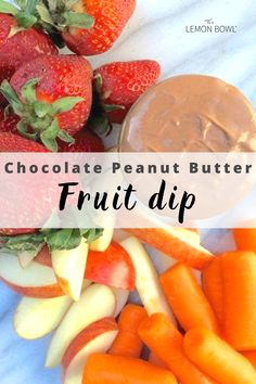 Vanilla yogurt, creamy peanut butter and rich cocoa powder are whisked together to create this healthy and delicious snack perfect for dipping or eating on its own. #Fruitdip #diprecipes #entertaining Peanut Butter Ice Cream, Natural Peanut Butter, Chocolate Peanut Butter, Healthy Snacks For Kids, Yummy Snacks, Lemon Bowl, Protein Packed Snacks, Vanilla Yogurt, Chocolate Peanuts