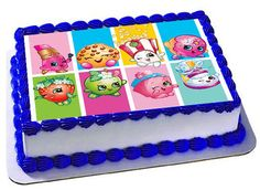 Shopkins Edible Cake Topper Shopkins Birthday by Trendytreathouse