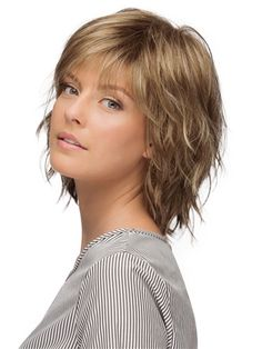 Jones Wig by Estetica - Hair Tutorials Short Hair With Bangs, Short Hair With Layers, Short Hair Cuts For Women, Hairstyles For Medium Length Hair With Layers, Asymmetrical Bob Haircuts, Short Layered Haircuts, Short Shag Hairstyles, Bob Hairstyles For Fine Hair, Medium Hair Styles