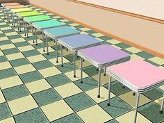 Mod The Sims - 10 Pastel Recolors of the 'NuMica Allinall Card Table'