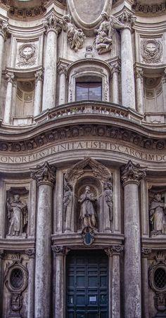 Borromini San Carlo alle Quattro fontane (1638-1641; facciata:1664-1667) [Parte seconda - Sul colle, le ellissi]