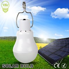 Portable Solar Powered Bulb Lamp 15W 130LM Led Charged Solar Energy Panel Light 5V For Outdoors Camping Tent Fishing Night Light
