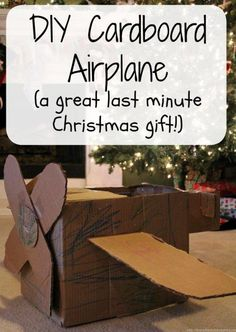 Make this cardboard airplane in under an hour and give the kids something a little different for Christmas!