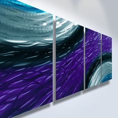 Metal Wall Art Decor Abstract Contemporary Modern Sculpture Hanging Zen- Purple Ambiance. via Etsy.