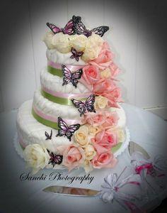 Butterfly wedding cake.