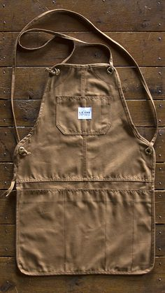 L. C. King Mfg. Co. Grilling Apron - Brown Duck - LC King Grilling Aprons - L. C. King Brand - Pointer Brand - Made in America over 100 Years in Bristol, TN