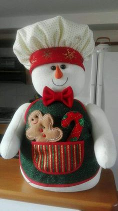Kathy Brande's media content and analytics Christmas Elf Doll, Christmas Chair, Christmas Teddy Bear, Felt Christmas, Snowman Crafts, Felt Crafts, Holiday Crafts, Holiday Decor, Xmas Ornaments