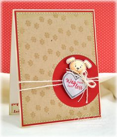 Dog card - Just Rite clear stamps