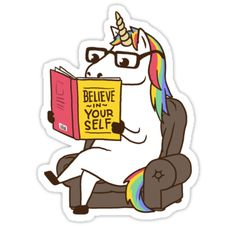 Unicorn Believe in Yourself Magical Fabulous T-shirt perfect for book lovers. • Also buy this artwork on stickers, apparel, phone cases, and more.