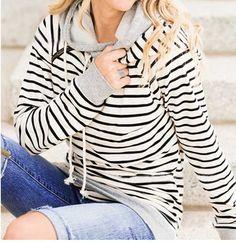 WealFeel Femal Striped Hoodie