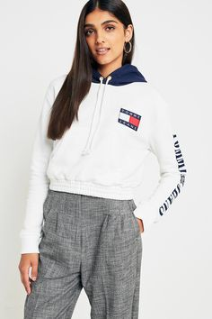 5eb4b2f5f Shop Tommy Jeans '90s Cropped Contrast Hoodie at Urban Outfitters today. We  carry all