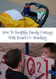 """""""I'm hungry!""""  The words that come out of my house within five minutes of arriving at the park, zoo, museum, etc.  If your family is the same way, master the art of co-snacking!    AD"""