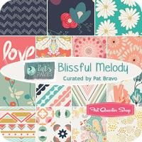 Blissful Melody by Curated by Pat Bravo for Art Gallery Fabrics - July 2015