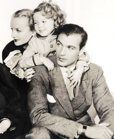 Gary Cooper, Shirley Temple and Carole Lombard