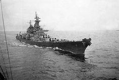 "Iowa-class battleship USS Missouri, aka ""Mighty Mo"". Made famous when World War II officially ended on her decks."
