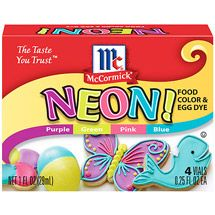 Walmart: McCormick Specialty Extracts Neon! Assorted Food Colors And Egg Dye, 4ct