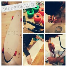 DIY LONGBOARD. I just love our new pair of longboards. <3