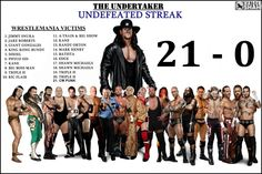 The Undertaker ~ The Streak - wwe & wwf News Undertaker Wwe, Wrestling Posters, Wrestling Wwe, Wrestling Rules, Wwe Facts, Wrestlemania 29, Catch, Shawn Michaels, Challenges