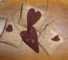 E-Pattern Primitive Valentine Ornaments Sewing Pattern Bowl Fillers