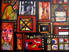 Lynne Mettam MR MITCHELLS HOUSE – A house with memories.. maybe it is haunted.Mixed Media on Canvas $80