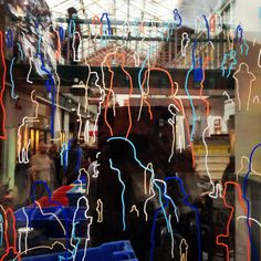 Window illustrations at Manchester Craft & Design Centre #Manchester #craft #posca #window #people #illustration
